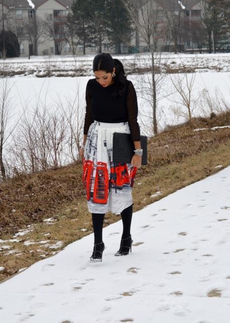 Chicwish Midi London Skirt
