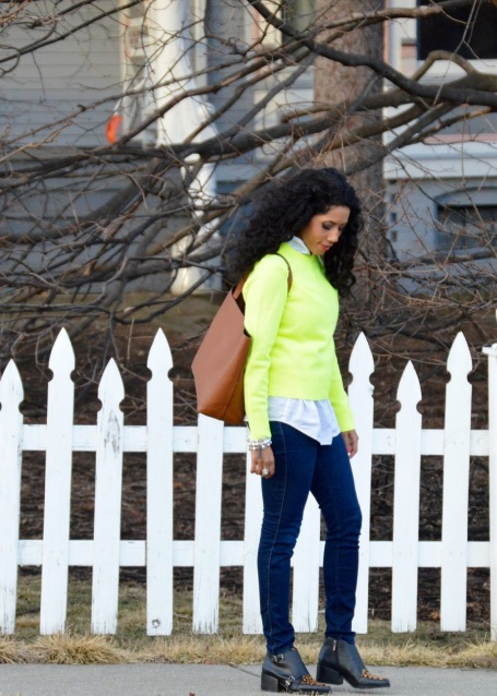 Lime Green J Crew Sweater