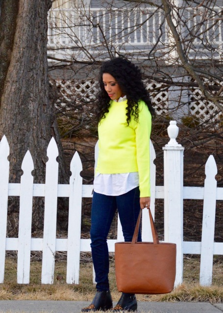 Lime Green Sweater, JCrew