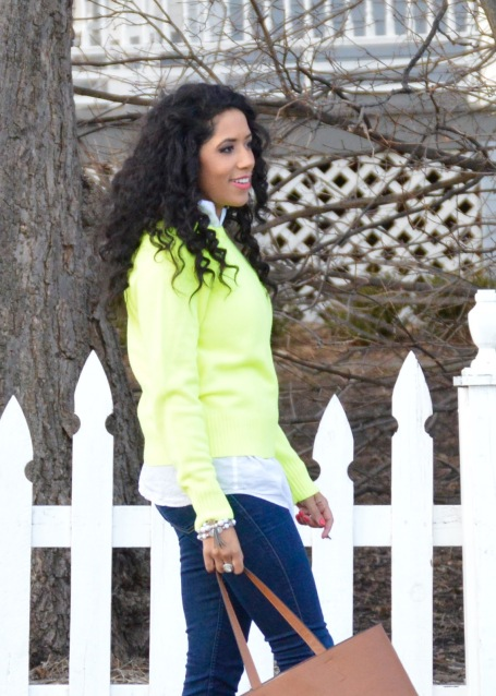 Highlighter Green Sweater