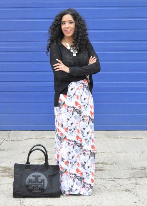 Tildon Printed Maxi Skirt