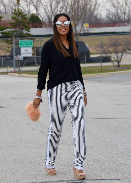 J Brand Striped Pants