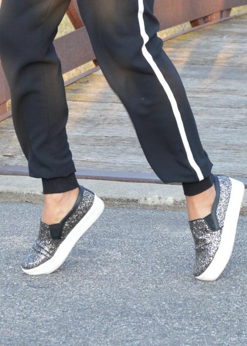 Glitter Slip On Sneakers