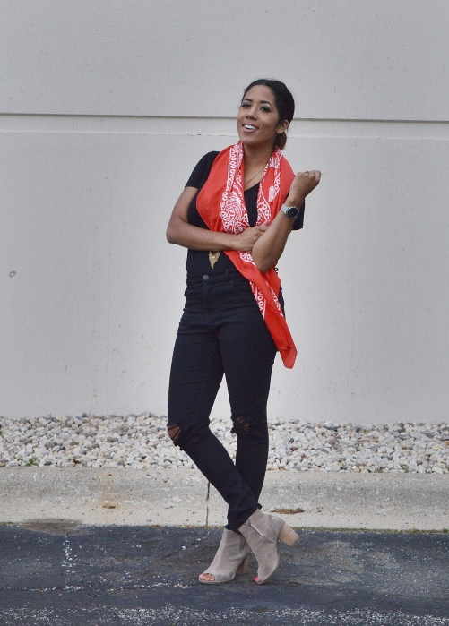 Red Bandana Scarf
