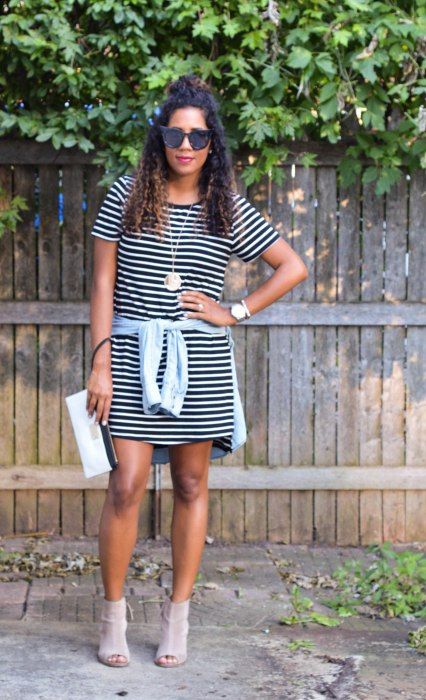 Black and White T-Shirt dress