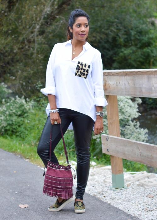 Zara Leopard Pocket Shirt