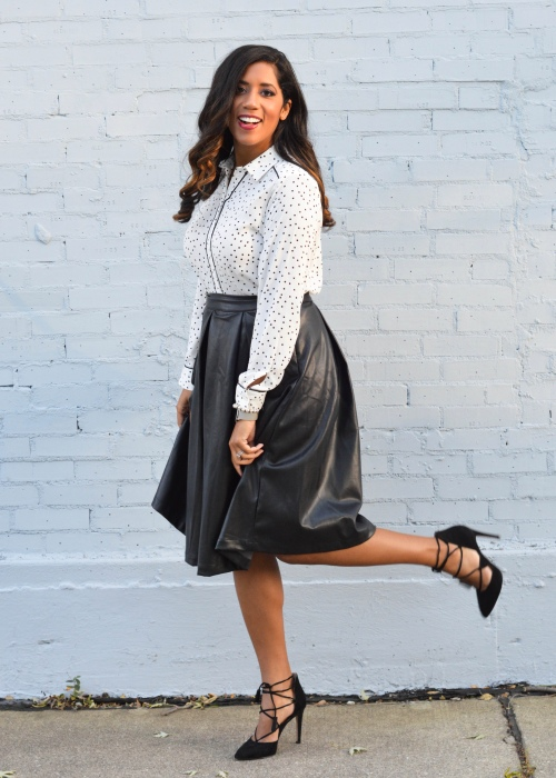 Who What Wear Faux Leather Skirt