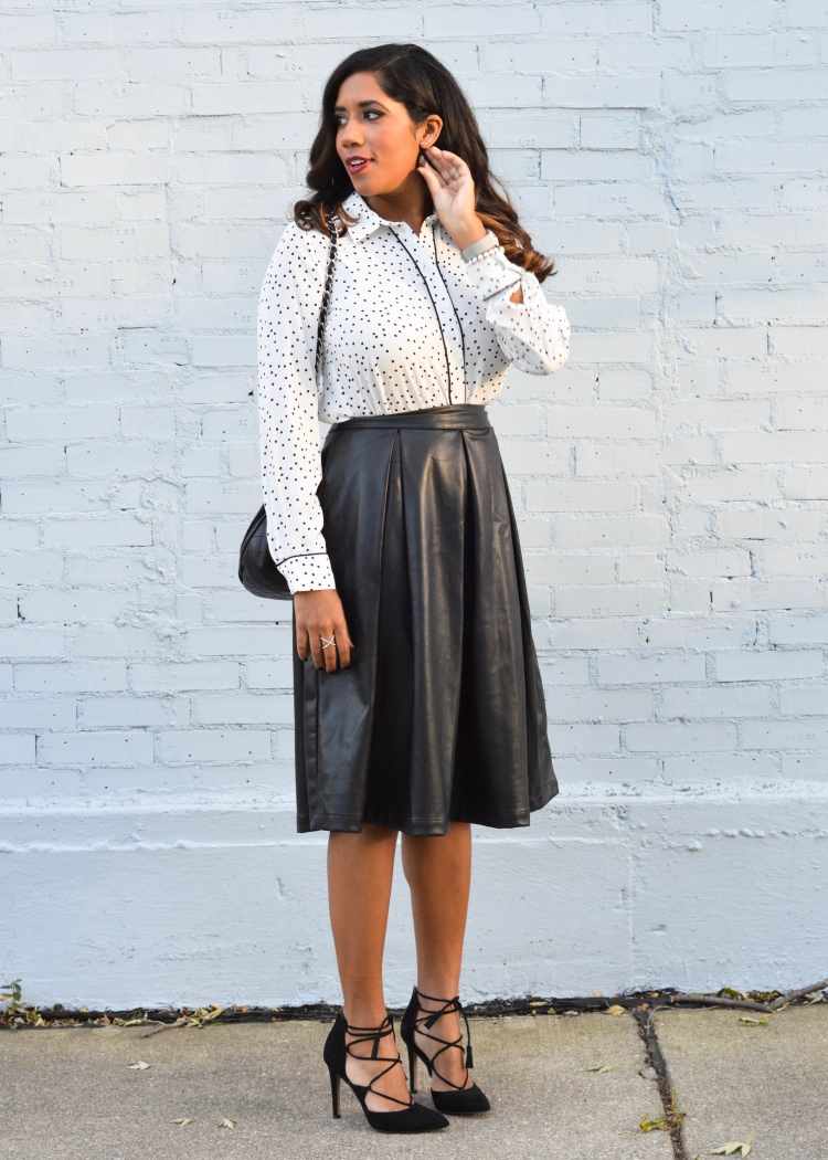 Wear to Work: Faux Leather Skirt