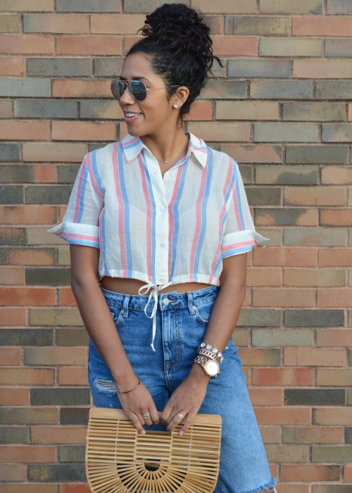 Solid & Striped cropped top